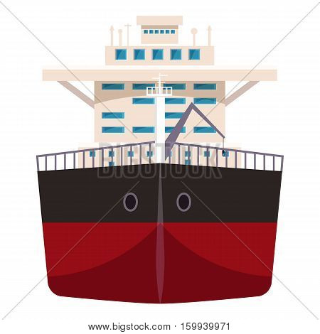 Ship with oil icon. Cartoon illustration of ship with oil vector icon for web