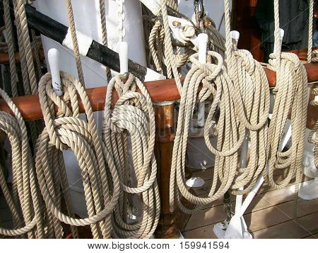 Photography of rope of sailboat tree masts boat