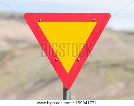 Roadworks Sign, Bright Yellow