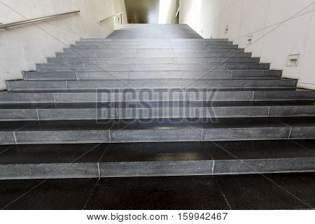 Close up and details of stairs of a modern building