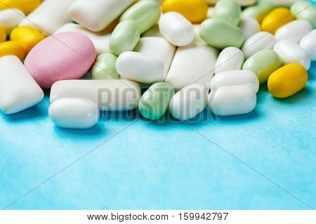 Assortment Of Chewing Gums, Mint Candies