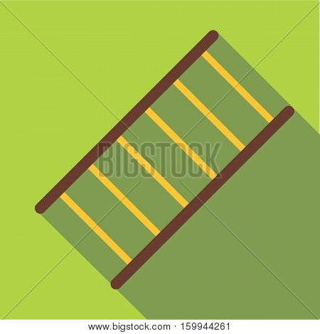 Fire ladder icon. Flat illustration of fire ladder vector icon for web