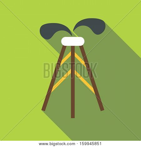 Drilling of oil well icon. Flat illustration of drilling of oil well vector icon for web