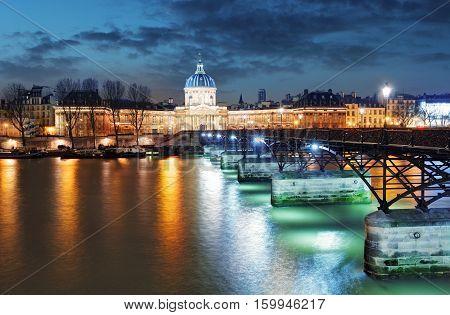 French Institute - Institute de France at night Paris