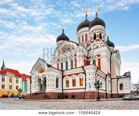 Alexander Nevsky Cathedral in Tallinn Old Town Estonia