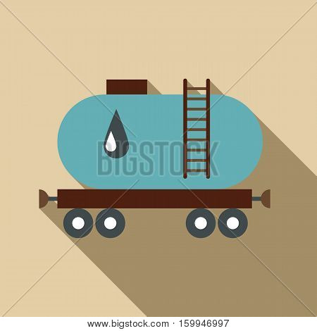 Waggon for gasoline icon. Flat illustration of waggon for gasoline vector icon for web