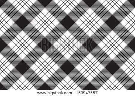 Check shirt seamless fabric texture. Vector illustration.