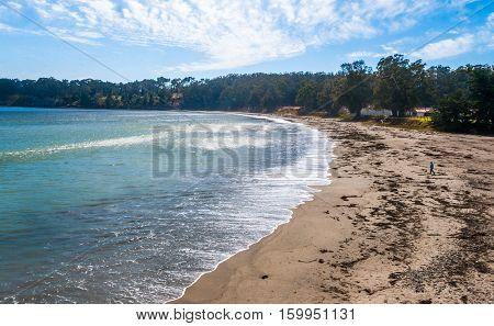 San Simeon Bay, Central California, USA June