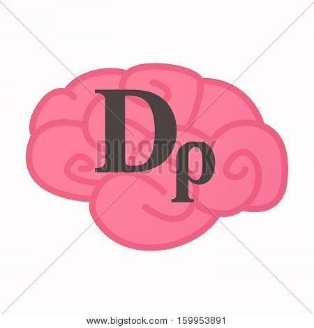 Isolated Brain With A Drachma Currency Sign