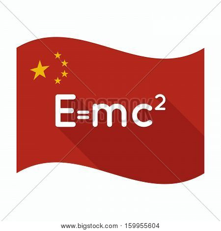 Isolated China Flag With The Theory Of Relativity Formula