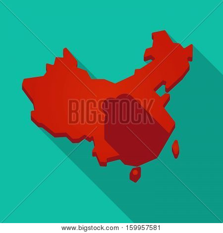 Long Shadow China Map With  A Map Of The Uk