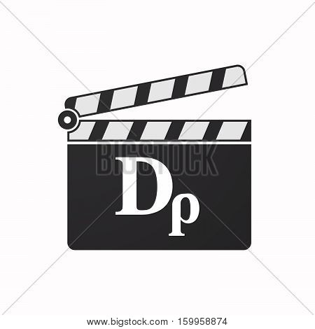 Isolated Clapper Board With A Drachma Currency Sign