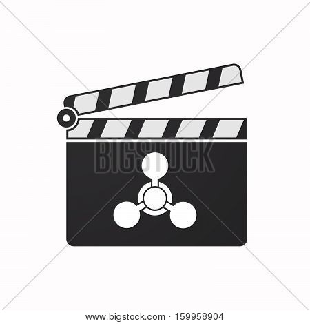 Isolated Clapper Board With A Chemical Weapon Sign