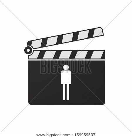 Isolated Clapper Board With A Male Pictogram