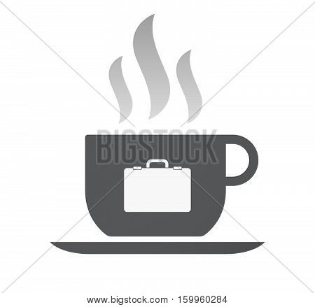 Isolated Coffee Cup With  A Briefcase