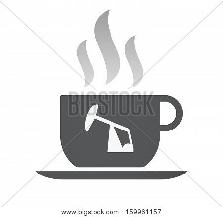 Isolated Coffee Cup With A Horsehead Pump