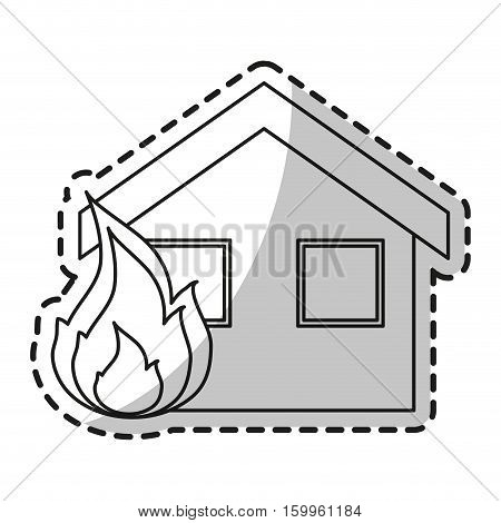 House on fire icon. Insurance health care security and protection theme. Isolated design. Vector illustration