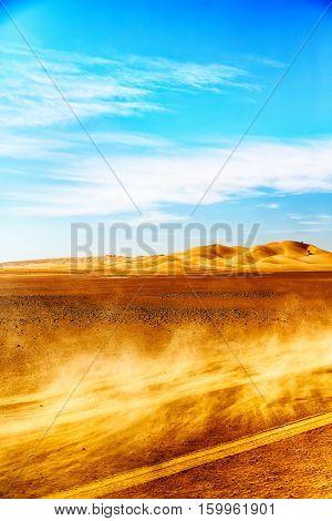 In Oman Old Desert Rub Al Khali The Dust Storm