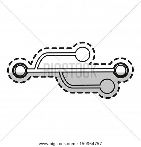 Usb circuit icon. Connection technology and hardware theme. Isolated design. Vector illustration