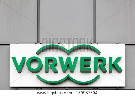 Arnas, France - October 23, 2016: Vorwerk is an international diversified group. The main business is the direct distribution of various products like household appliances, fitted kitchens or cosmetic