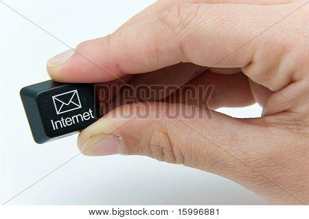 keyboard button says internet