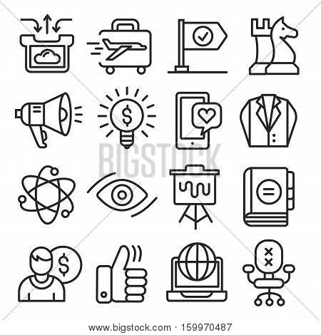 vector set lines icons pack collection lineart