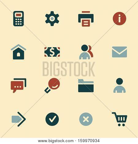 Basic vector mobile icons. Web infographics symbols.