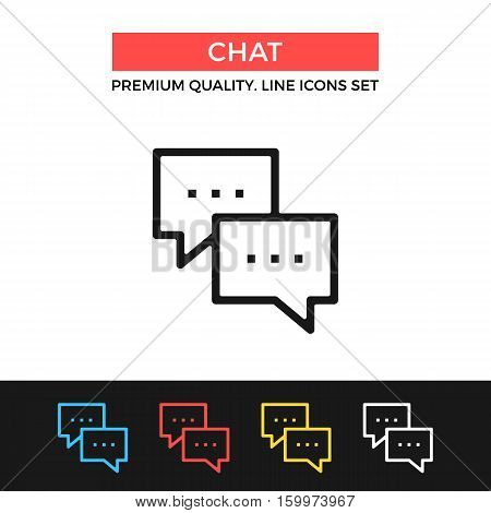 Vector chat icon. Instant messaging, discussion. Premium quality graphic design. Modern signs, outline symbols collection, simple thin line icons set for websites, web design, mobile app, infographics