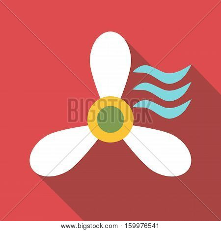 Propeller icon. Flat illustration of propeller vector icon for web