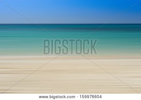 abstract montion of sea beach for vacation time and relax from hard work - can use to display or montage on product