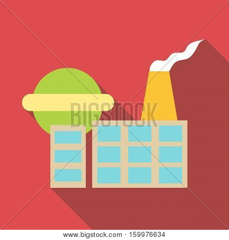 Chemical plant icon. Flat illustration of chemical plant vector icon for web