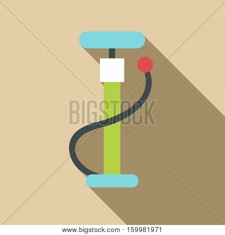 Pump for bicycle icon. Flat illustration of pump for bicycle vector icon for web