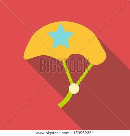 Bicycle protective helmet icon. Flat illustration of bicycle protective helmet vector icon for web