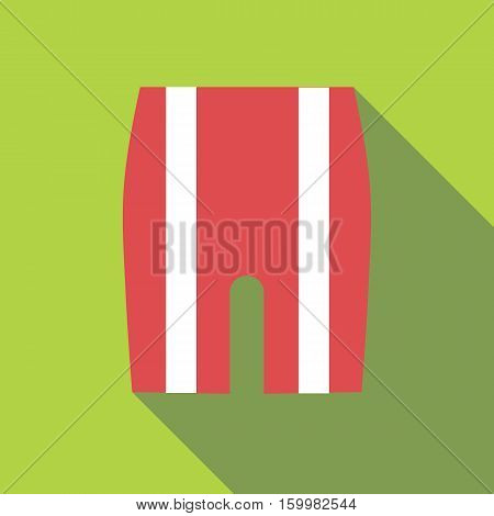 Shorts for cyclists icon. Flat illustration of shorts for cyclists vector icon for web