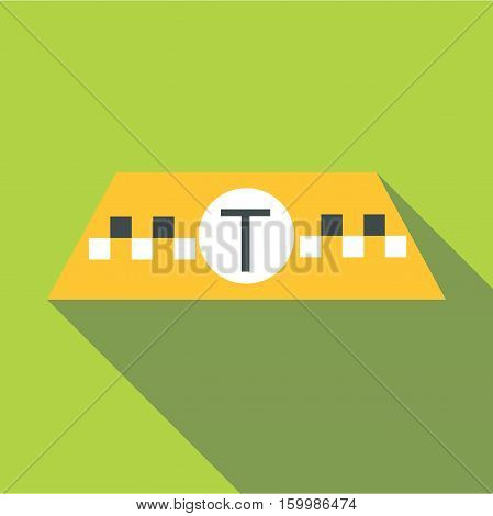 Checker for taxi icon. Flat illustration of checker for taxi vector icon for web