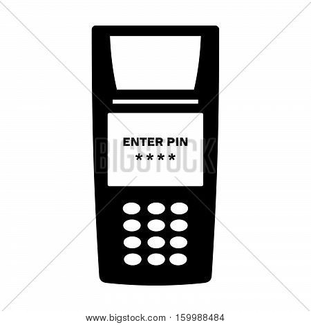 POS terminal ( shade picture ) on white