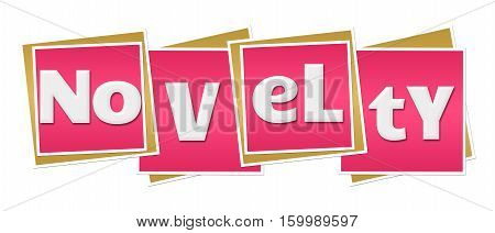 Novelty text alphabets written over pink background.