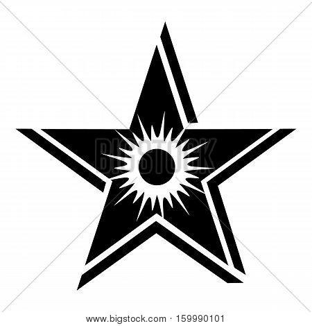 Star sun icon. Simple illustration of star sun vector icon for web