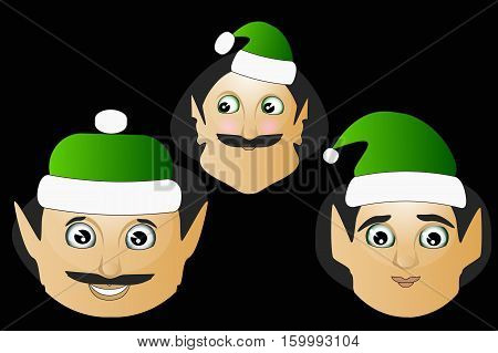 The Elves A Few Icon Vector Normal Clumsy Brute On  Black Background To Separate Easily