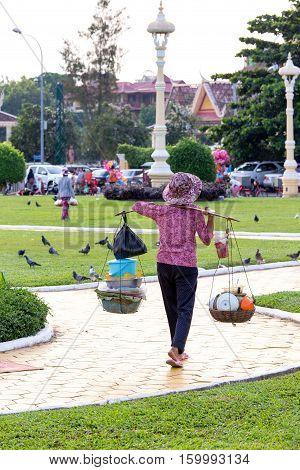 Street Seller Street In Phnom Phen