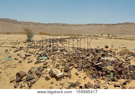 Garbage Dump in Desert