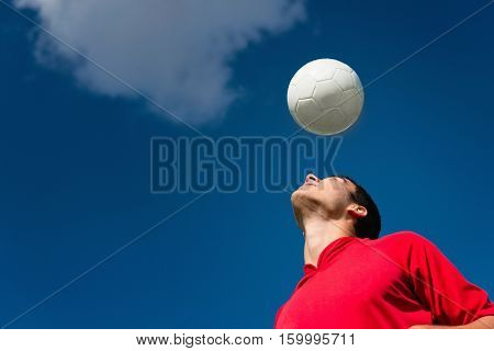 Soccer Player Bouncing Ball