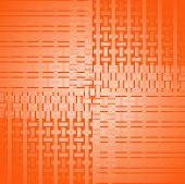 Abstract geometric seamless background single color, netting. Regular rectangles and stripes pattern in orange shades, modern and shiny. poster