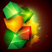 colorful boxes eps10 vector background poster