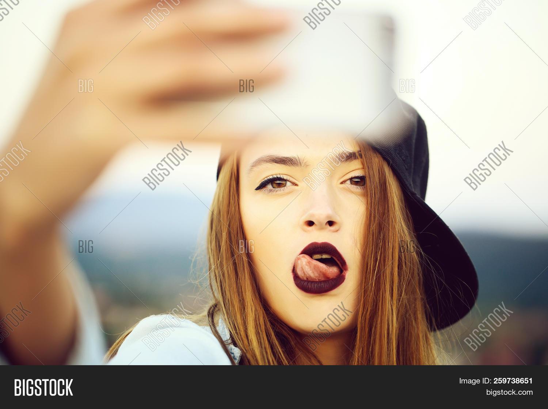 Cute young sexy facial