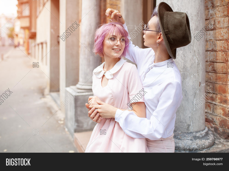 Lesbian sex with a man