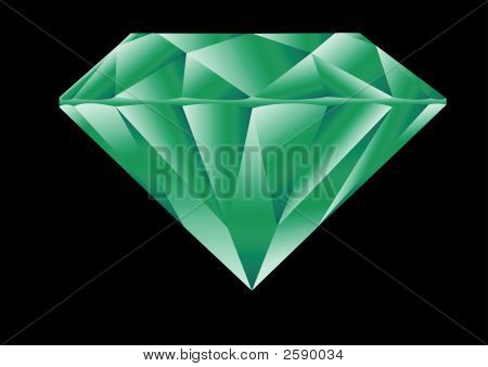 Diamond Cut Emerald