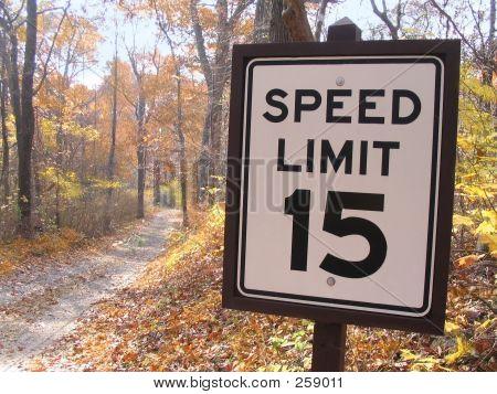 Speed Limit 15 Sign