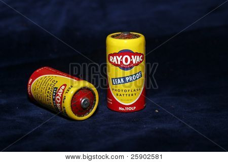 old Ray-O-Vac batteries from the early 1950's