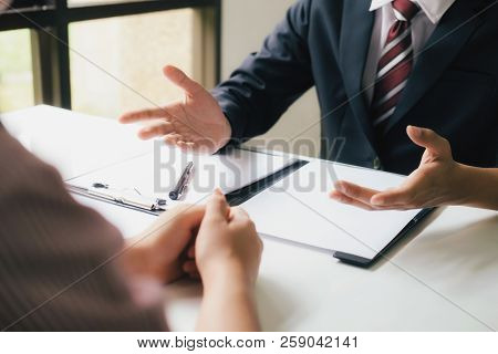 Lawyer Are Providing Legal Advice To Clients.